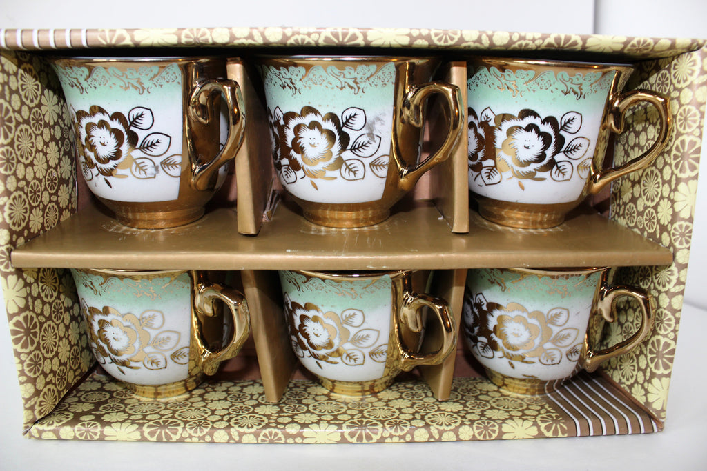 "7-25 Turkish Coffee Cup 6 Pieces 3"" Diameter x 2.7/8"" H"
