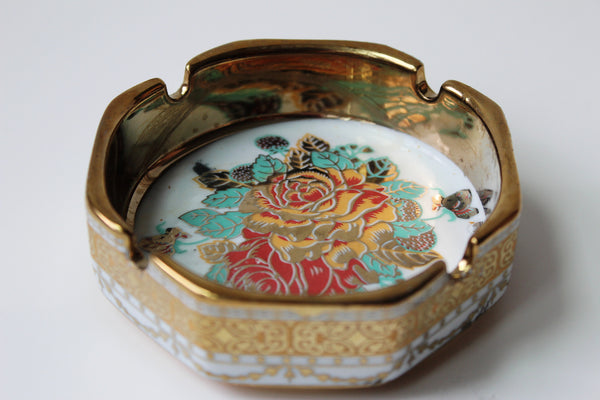 7-7 Ashtray With Gold plated