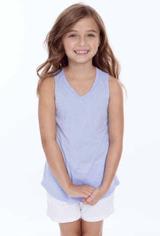 Girls V-Neck Muscle Top