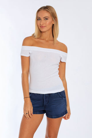 Miami Style® - Women's Off Shoulder Rib Top
