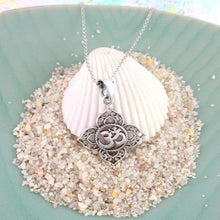 Load image into Gallery viewer, Necklace - Om Lotus Petal Necklace