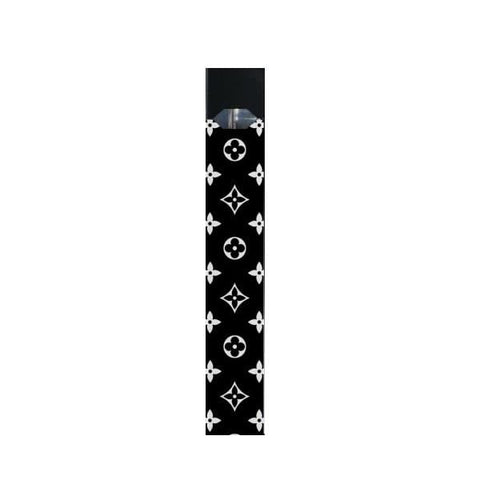 JUUL Compatible Skin/ Wrap (Black LV Inspired) - vapersandpapers.com