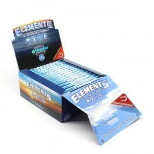 Elements Artesano Kingsize Slim Rolling Paper w/ Tips & Tray - 15 Count Box - vapersandpapers.com
