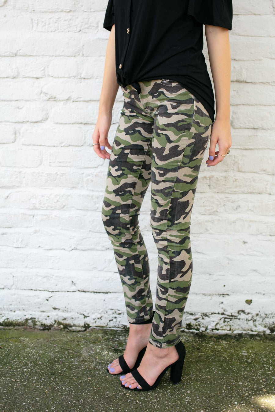 Bottoms Edge of the Woods Camo Jeggings - Lotus Boutique