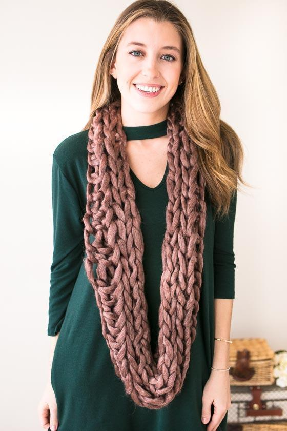 Accessories Don't Be A Yarn Chunky Scarf  - Lotus Boutique