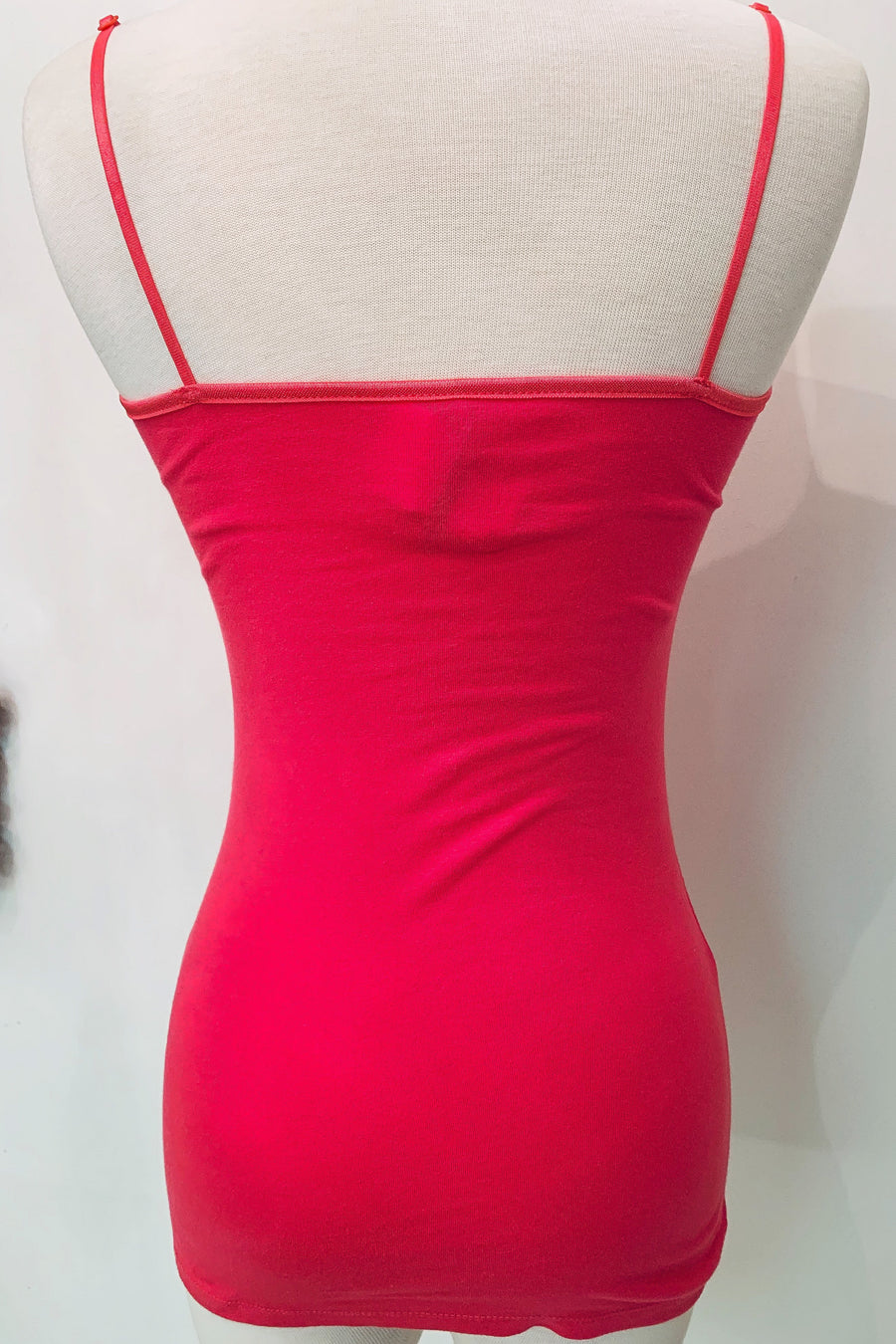 Adjustable Strap Cami in Coral Pink