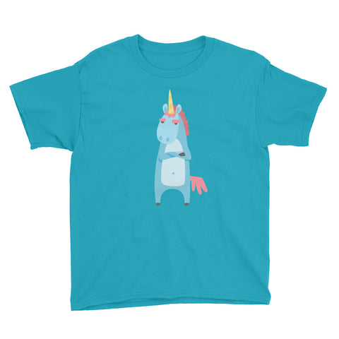 Unicorn With an Attitude Youth Short Sleeve T-Shirt - Apparelized