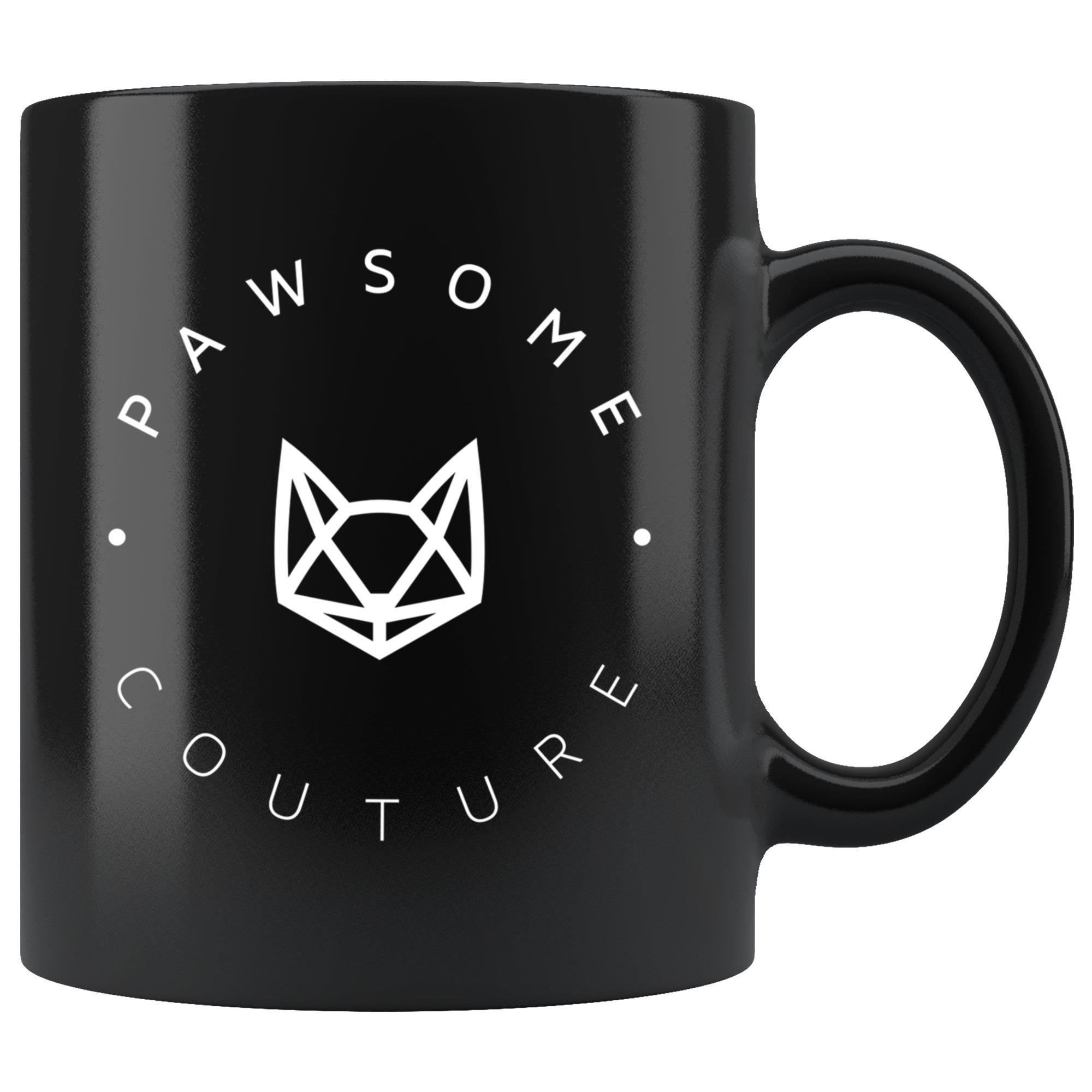 Pawsome Couture Black Mug