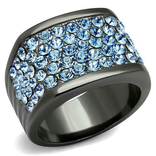 Women's Blue ice iron tusk ring