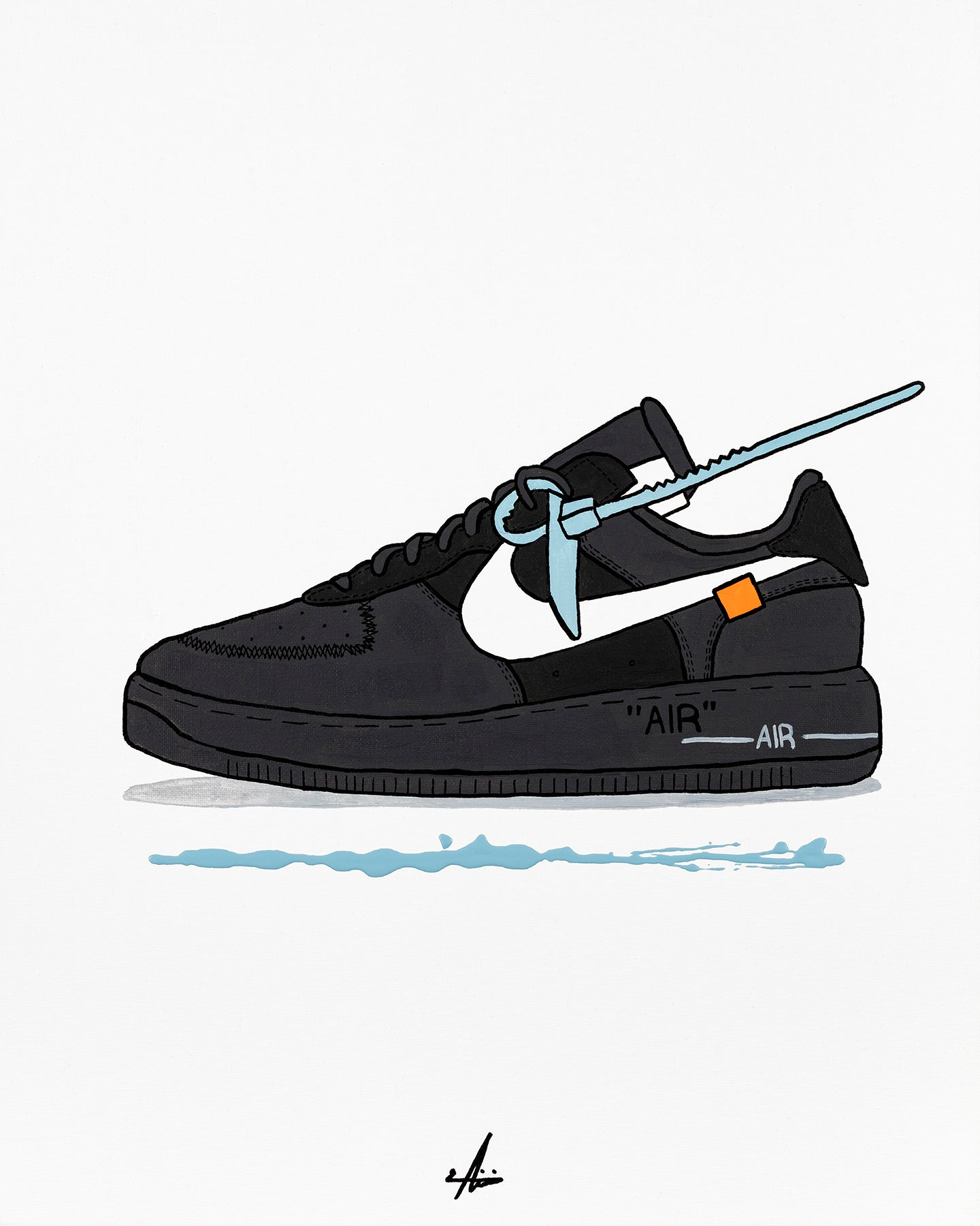 Mahyar - Virgil Abloh x Air Force 1 Black