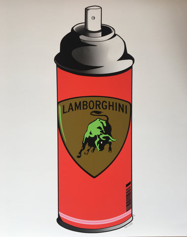 Mr. Clever Art - Lambosol Spray Can Red