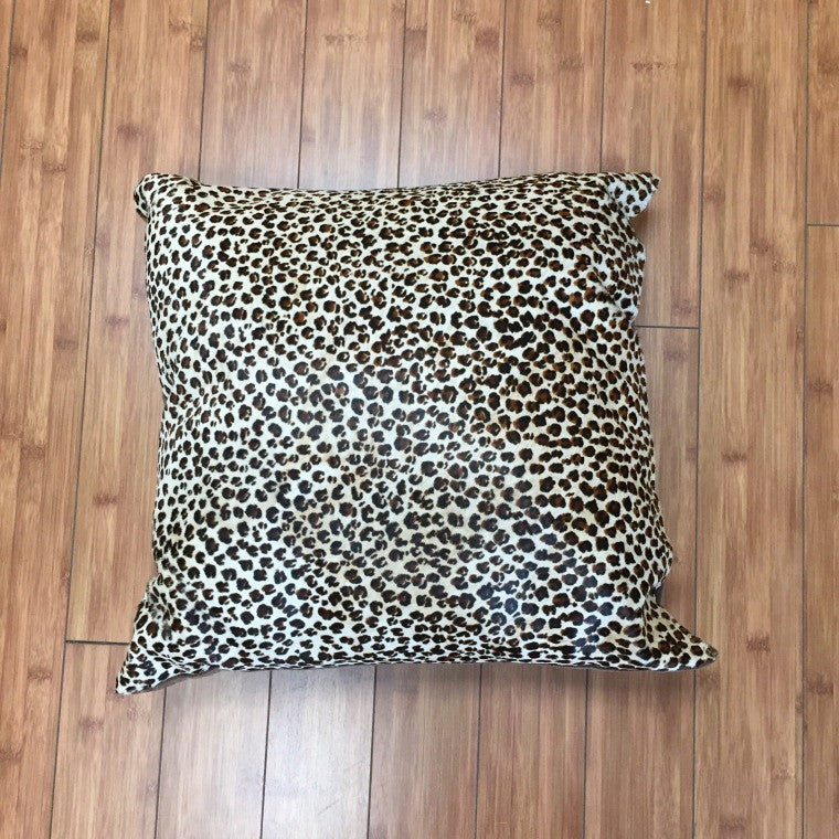 Cowhide Mini Leopard Print w/ Brown Backing - Trophy Room Collection