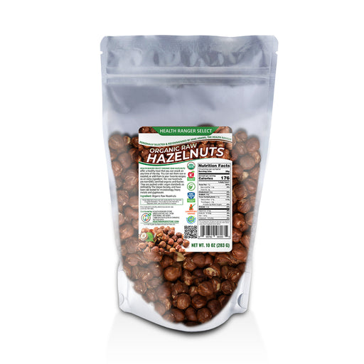 Organic Raw De-shelled Hazelnuts With Skin 10 oz - (Non-fumigated, Unpasteurized, Non-irradiated)