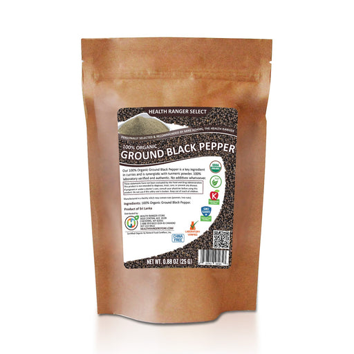 100% Organic Ground Black Pepper (0.88oz) (25g)