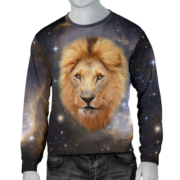 Galaxy Lion Mens Sweater