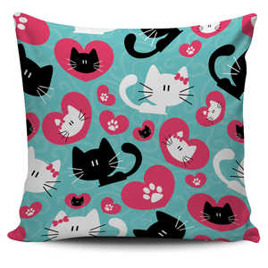 Romantic Cats Pillow Cover