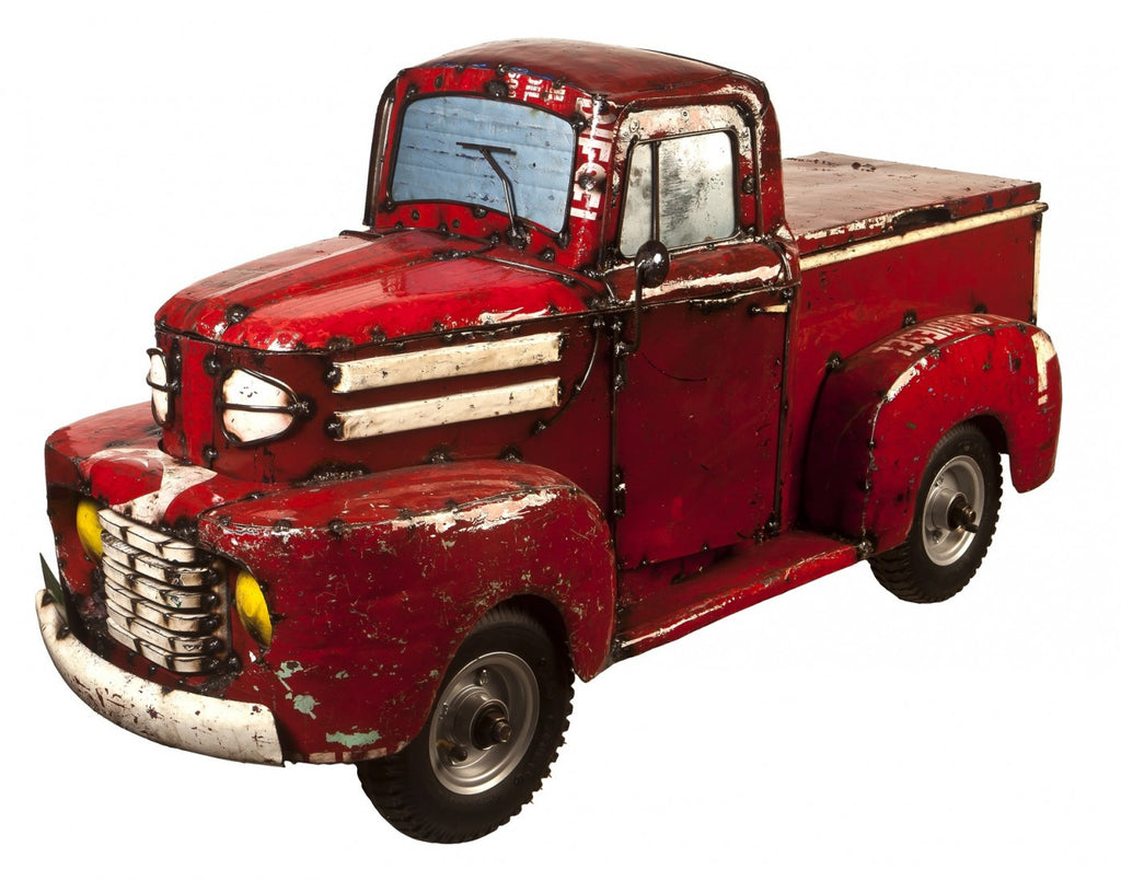 1950's Pick Up Truck Cooler Red