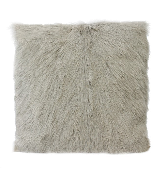 Light Grey Goat Fur Cushion