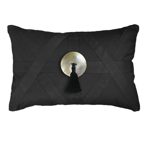 Diamond Scroll Black Cushion