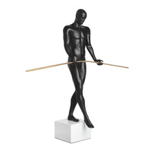 Balancing Man Sculpture Matte Black