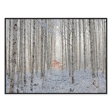 Ends In White Photographic Canvas Print with Floating Frame