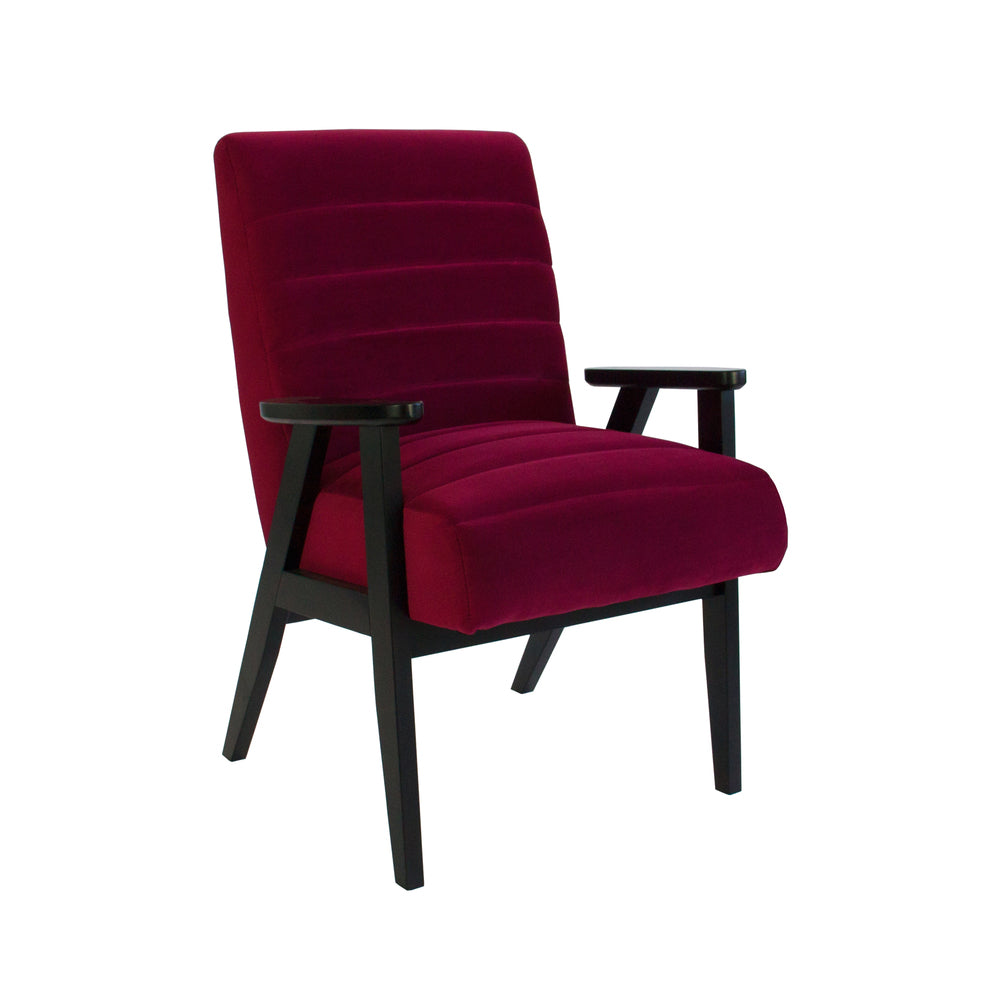 Brando Arm Chair Marsala Velvet with Black Frame