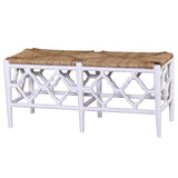 Trellis Bench White