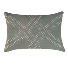 Polar Dot Sage Rectangular Cushion