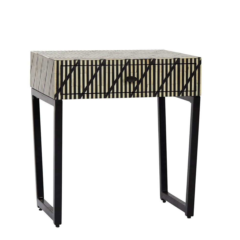 Ett Bone Inlay Side Table