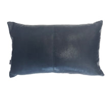 Nappa Leather Cushion Midnight Blue