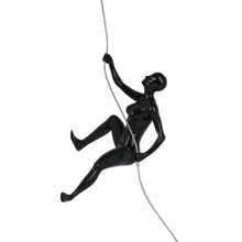 "Climbing Woman ""D"" Black Gloss"