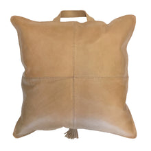 Aren Leather Cushion Caramel