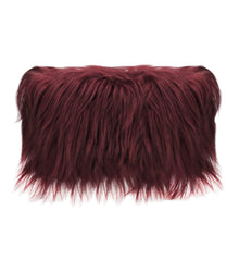 Luxury Goat Cushion Plum