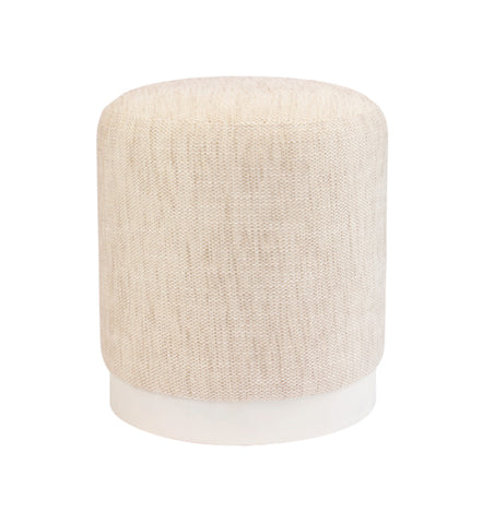 Tribeca Ottoman Clay with Dark Base Small