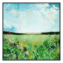 The Spring Field Canvas with Floating Frame