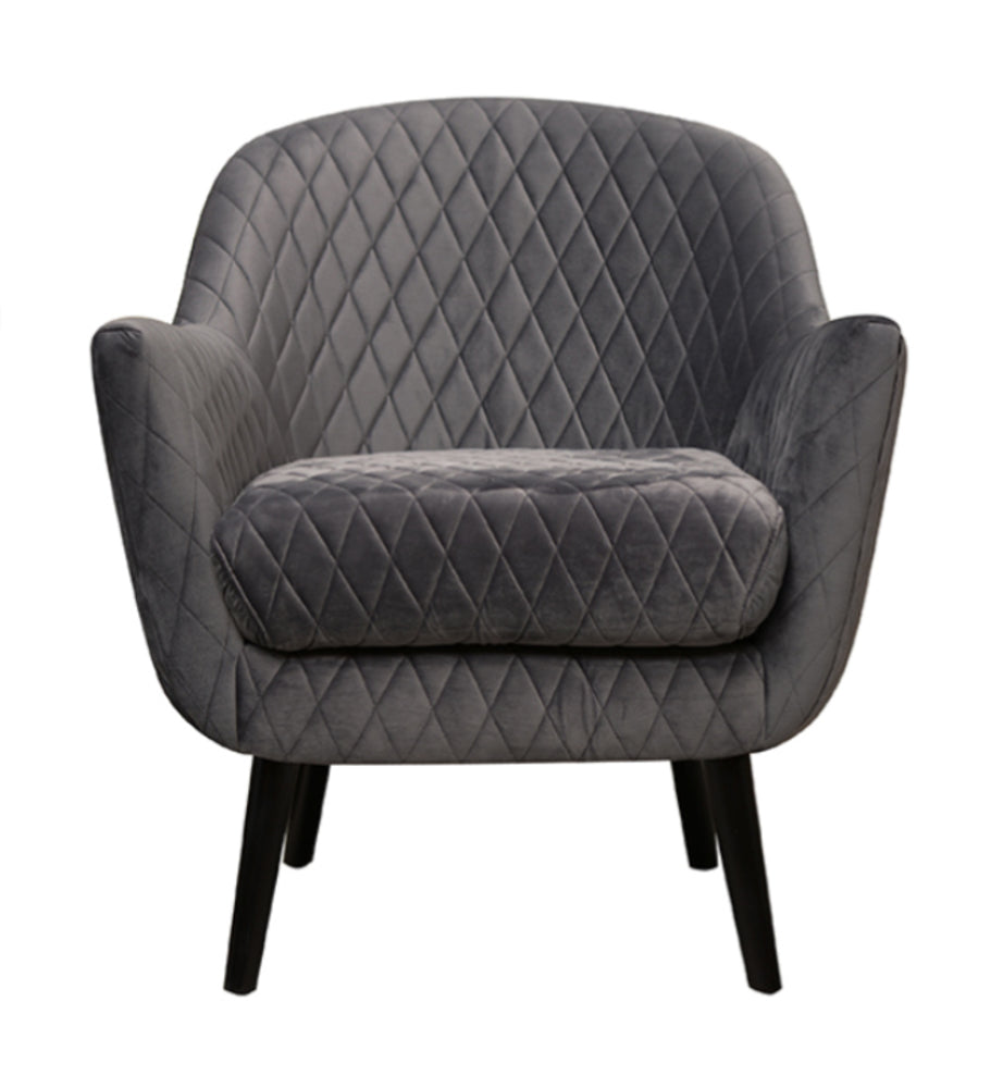 Club Chair Charcoal with Black Legs