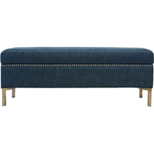 Paddington Storage Bench Aegean Blue