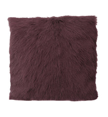Goat Fur Cushion Plum