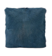 Goat Fur Cushion Royal Blue