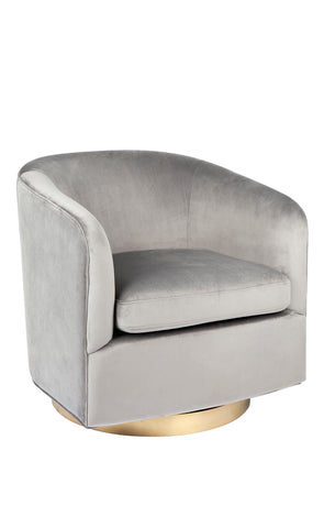 Belvedere Swivel Armchair Black and White