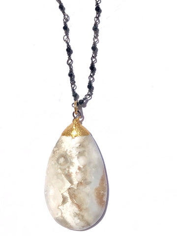Milky White Agate Necklace - SOLD OUT