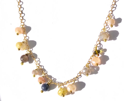 Subtle Multi Stone Necklace