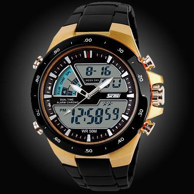 50M Waterproof Mens Sports Watches Relogio Masculino Hot Men Silicone Sport Watch Reloj S - SolaceConnect.com