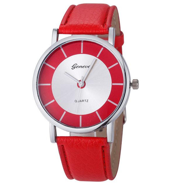Relojes Mujer Luxury Quartz Watch Women Leather Clock Women Watches Ladies Wrist Watch Men - SolaceConnect.com