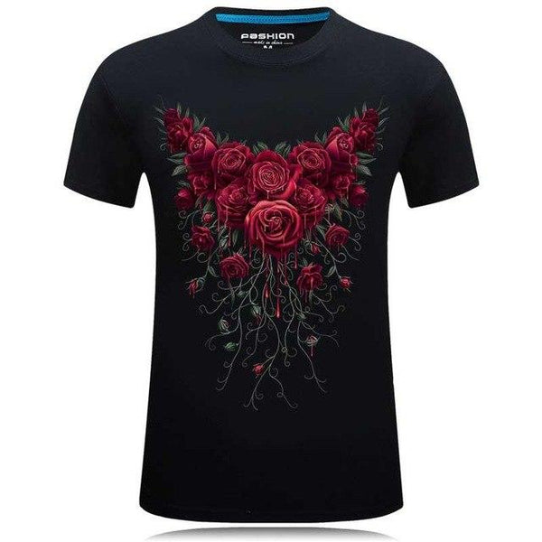 Fashion Mens Angel Print 3d t shirt Hip Hop Design Men O-Neck T-shirt homme brand-clothing Casual - SolaceConnect.com