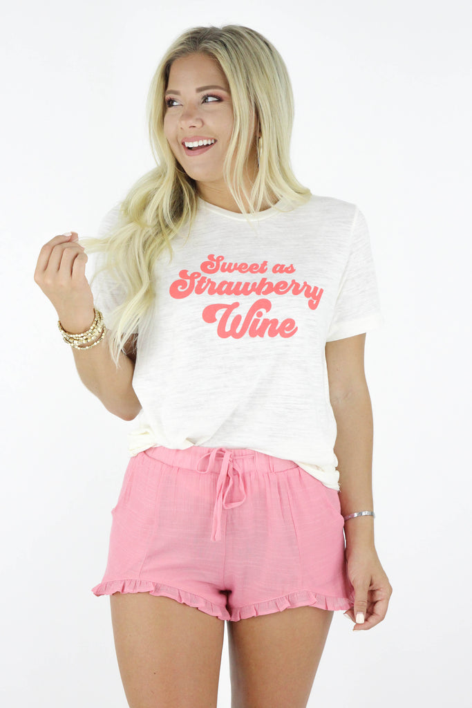 Sweet as Strawberry Wine Graphic Tee