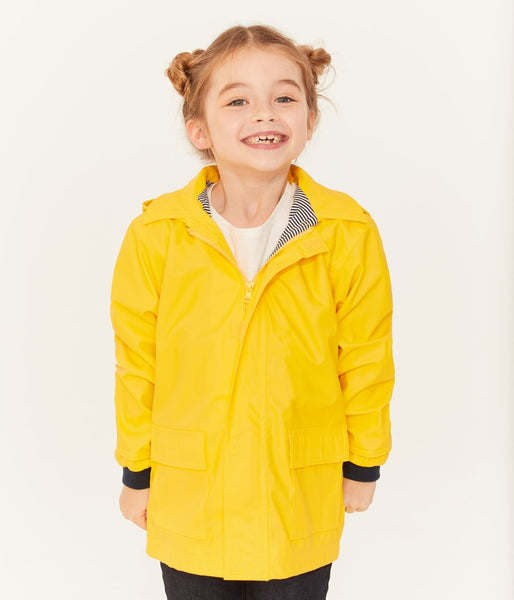 Boys & Girls Yellow Hooded Coat
