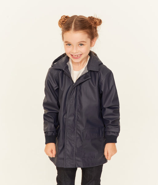 Boys & Girls Navy Hooded Coat