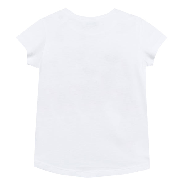 Girls Optic White Cotton T-shirt
