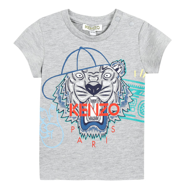 Boys Marl Grey Cotton T-shirt